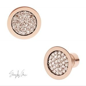 NWT authentic MK rosegold tone pave stud earrings